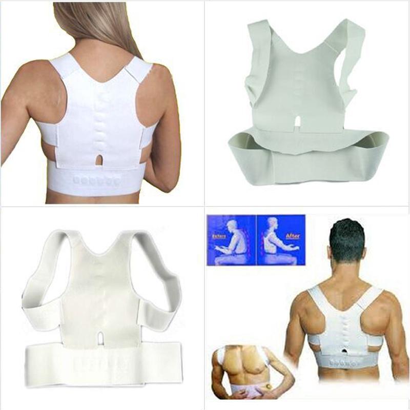 Women Men's Posture Corrector Belt Magnetic Corset Shoulder HunchBack Brace Posture Correction Belts Orthotics TV Products(China (Mainland))