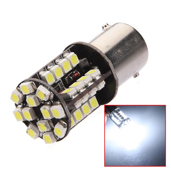 New Arrival 1156 BA15S 44 SMD LED CANBUS No Error Pure White Car Auto Light Source Tail Brake Signal Parking Lamp Bulb DC12V(China (Mainland))