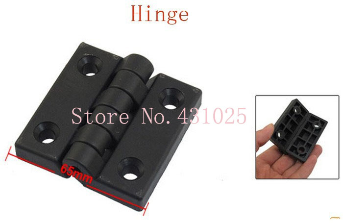 65mm x 65mm Two Leaves Plastic Bearing Butt Hinge Black for Door 4pcs(China (Mainland))