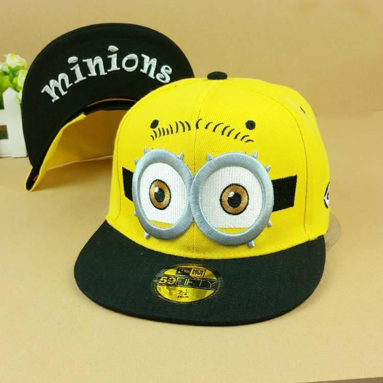 Adults & Kids 3Style Minions Baseball Caps 2015 Cartoon Character Hats & Caps(China (Mainland))