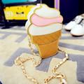 New Cute Cartoon Women Ice cream Cupcake Mini Bags PU Leather Small Chain Clutch Crossbody Girl
