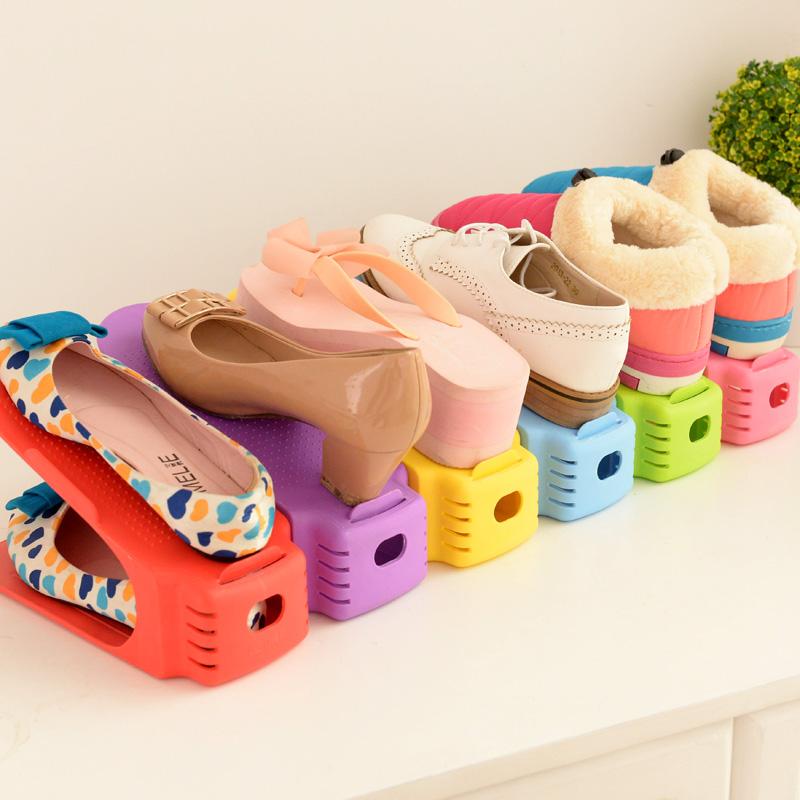 2016 Adjustable Shoe Racks Modern Double Cleaning Storage ...