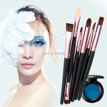2015 NEW  6Pcs Face Makeup Brushes Cosmetic Set Eyeshadow Eyeliner Nose Smudge Tool(China (Mainland))