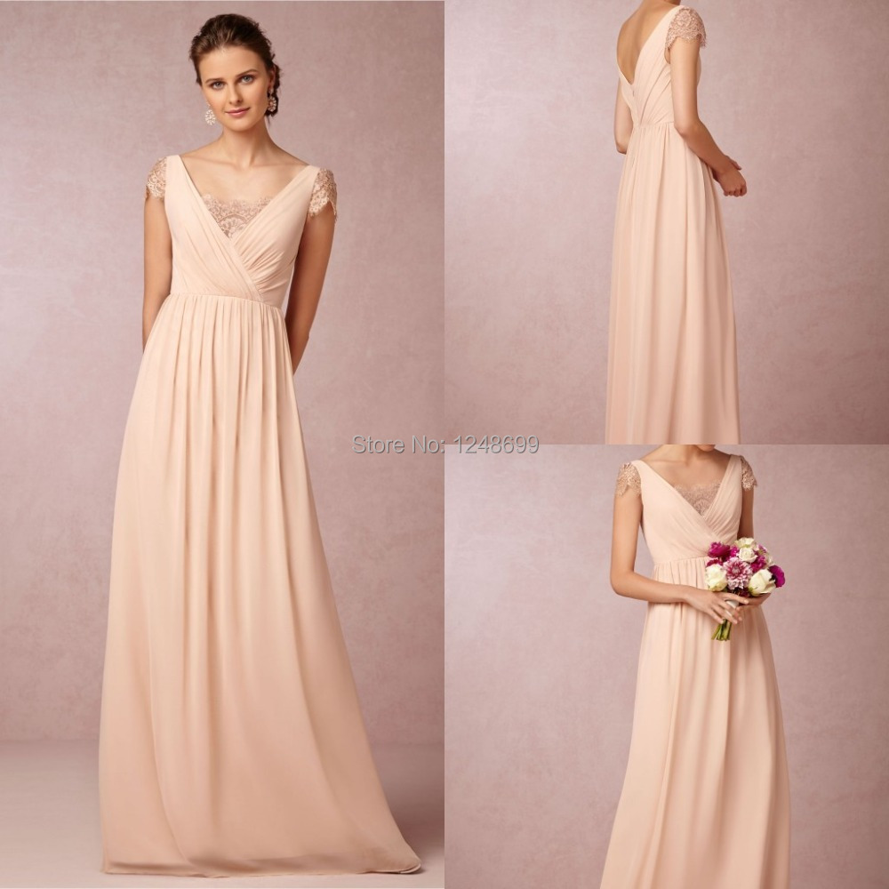2015 cheap simple bridesmaid gowns a line floor length for Cheap simple plus size wedding dresses