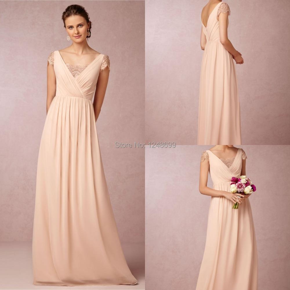 2015 cheap simple bridesmaid gowns a line floor length for Cheap plus size lace wedding dresses
