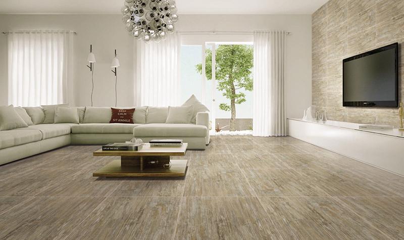 600 600mm Wood Bricks Ceramic Tiles Metallic Glaze