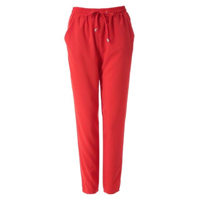 2016 весна осень шаровары вязать шнурок штаны эластичный пояс морковь брюки женщин ...