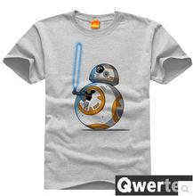 Cool star wars BB-8 BB-Saber DIY T Shirt funny customized t-shirt men top cotton star wars shirt