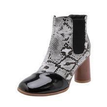 MEMUNIA 2020 più il formato 34-48 donne della caviglia stivali di serpente punta rotonda colori misti autunno inverno stivali moda di alta scarpe tacchi delle signore(China)