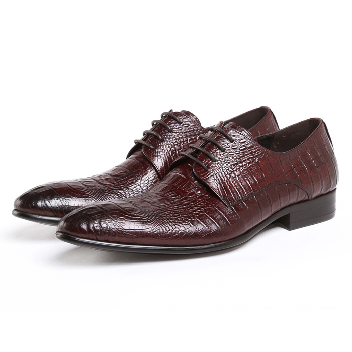 2015 New Arrival Fashion Genuine Leather Cowhide Printing Formal Designer Brand Mens Pointed Toe Derby Dress Shoes GLM488<br>