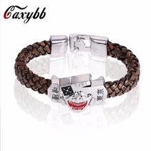 Buy 2016 Boho Retro Punk Tokyo Ghoul Sheet Titanium Bracelets Braided Leather Bracelets Bracelet Jewelry Jewelry Man Men for $1.41 in AliExpress store