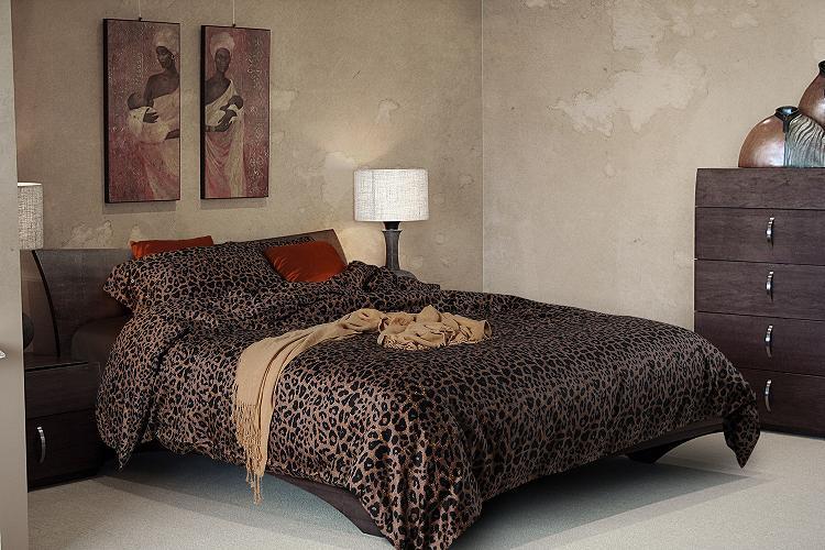 Buy luxury black leopard print bedding sets egyptian cotton sheets king size - Cheetah print queen comforter set ...