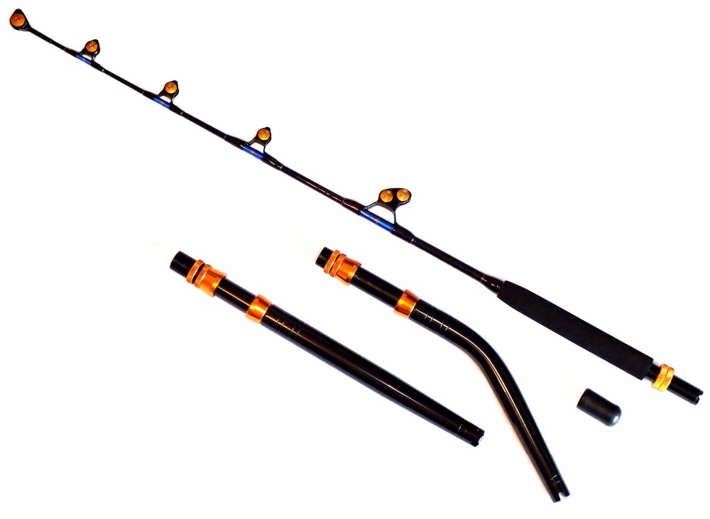 Lurekiller pacific bay 37kg game fishing rod stand up bent for Fishing rod game