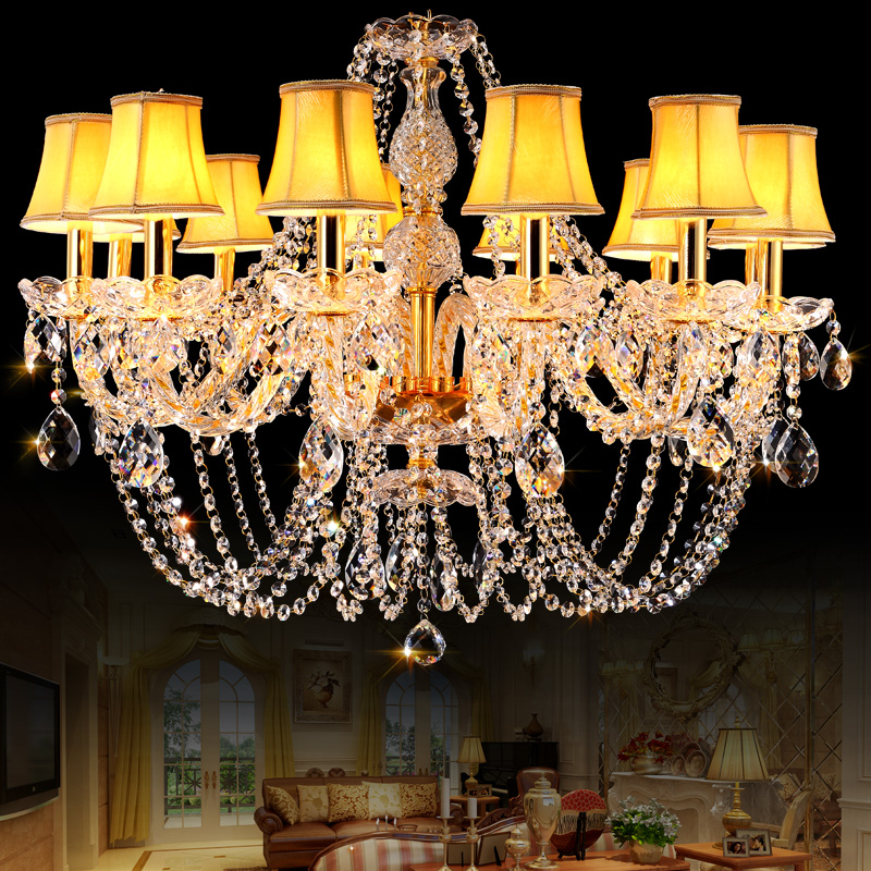 Gold Crystal Chandelier Novelty Lights for Kitchen Living room Lamp lustres de cristal led chandelier lampadari Wedding Decorate(China (Mainland))