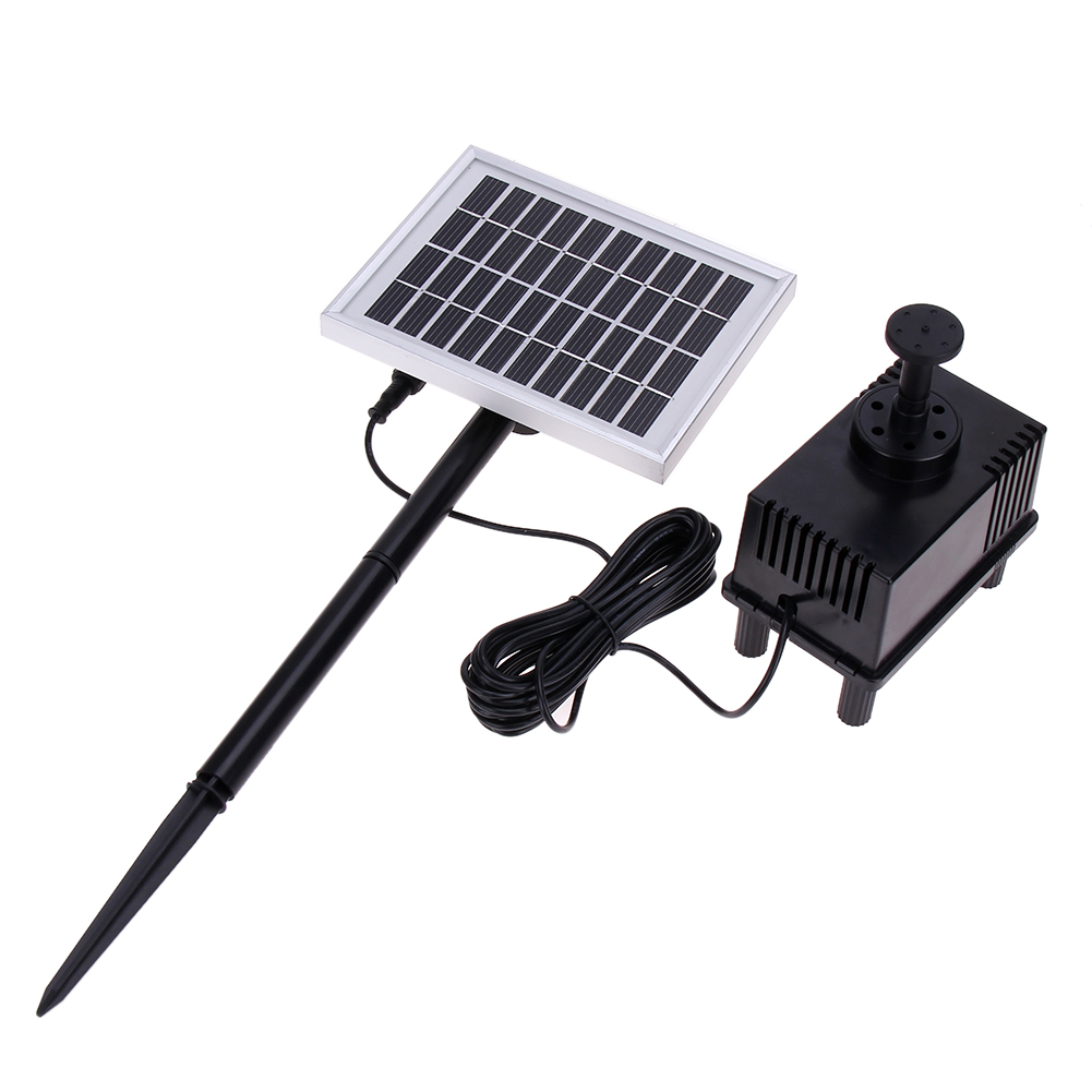 10V/2W Solar Panel Power Submersible Pump Landscape Pool Garden Fountains Pond Water Pump Solar Power Decorative MFBS(China (Mainland))