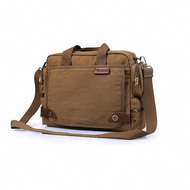 Thicker Canvas Brand men 14 inches laptop Casual Handbag Travel Bags Men Messenger Shoulder school bags-LI010 - Bags4u Store store