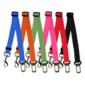 Hot Sale 6 Colors Animals Cats Dog Nylon Car Safety Seat Belt Pets Harness And Leash