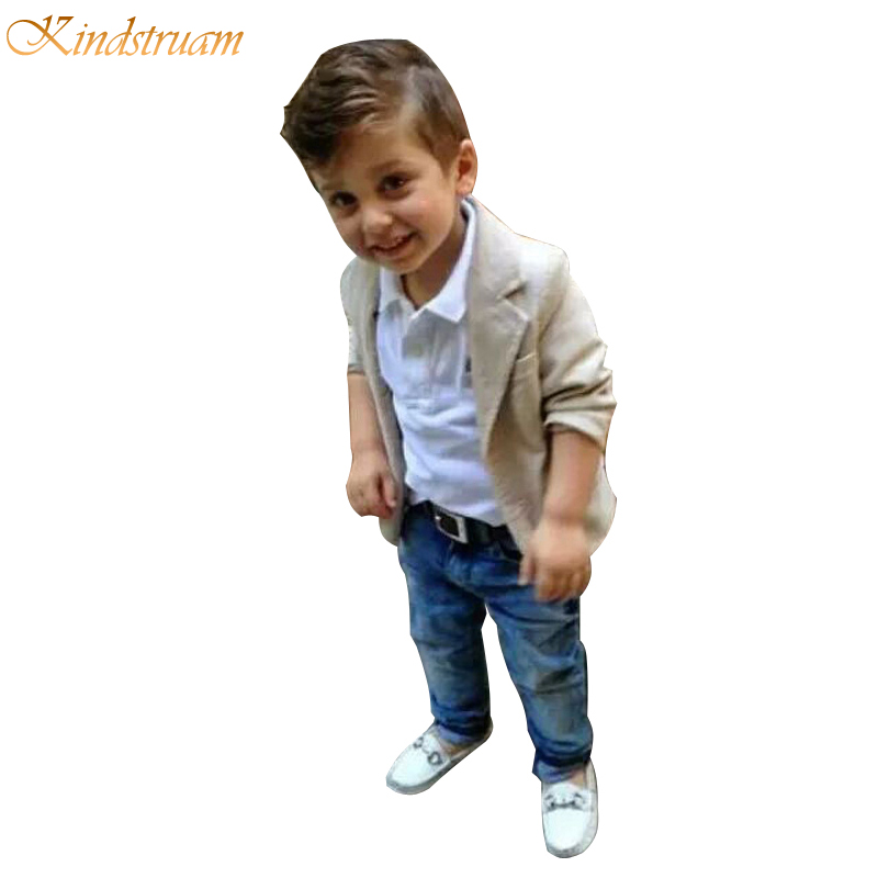 2016 new arrival baby boys clothing sets 3 pieces blazer