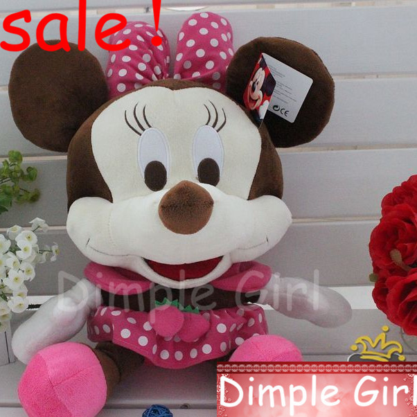 P-1C,50cm,Unique Hot Sale,Big Size Pink Mickey&Minnie Mouse Plush Soft Toy Doll For Baby Girl/Children Birthday Gift/Christmas(China (Mainland))