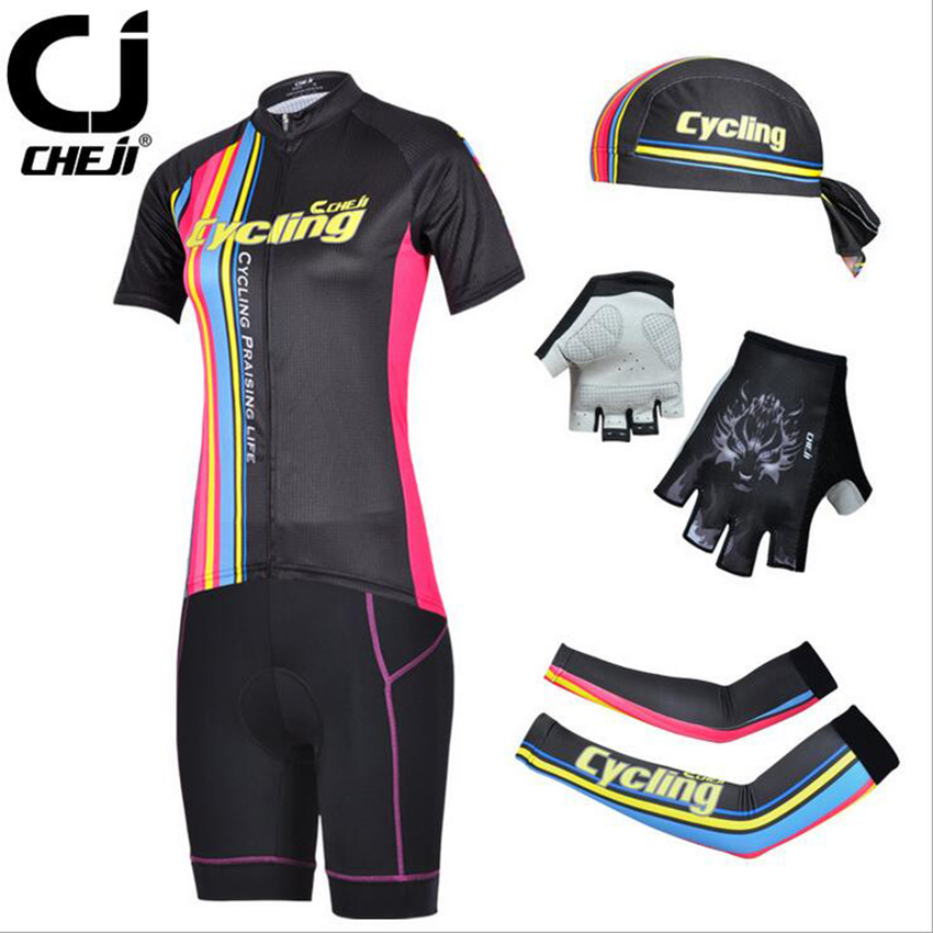 2015 CHEJI Cycling clothing /Cycling wear/ Cycling jersey short sleeve Suite CD0810 three piece suit <br><br>Aliexpress