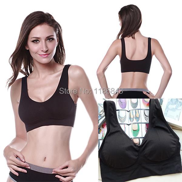 Hot sale Casual Womens Shear Seamless Vest Bra Tops Sports Slim Underwear 1PCS(China (Mainland))