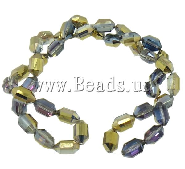 Free shipping!!!Crystal Beads,Christmas Gift, half-plated, faceted, 16x10.50mm, Hole:prox 1.5mm, 200PCs/Lot, Sold By Lot<br><br>Aliexpress