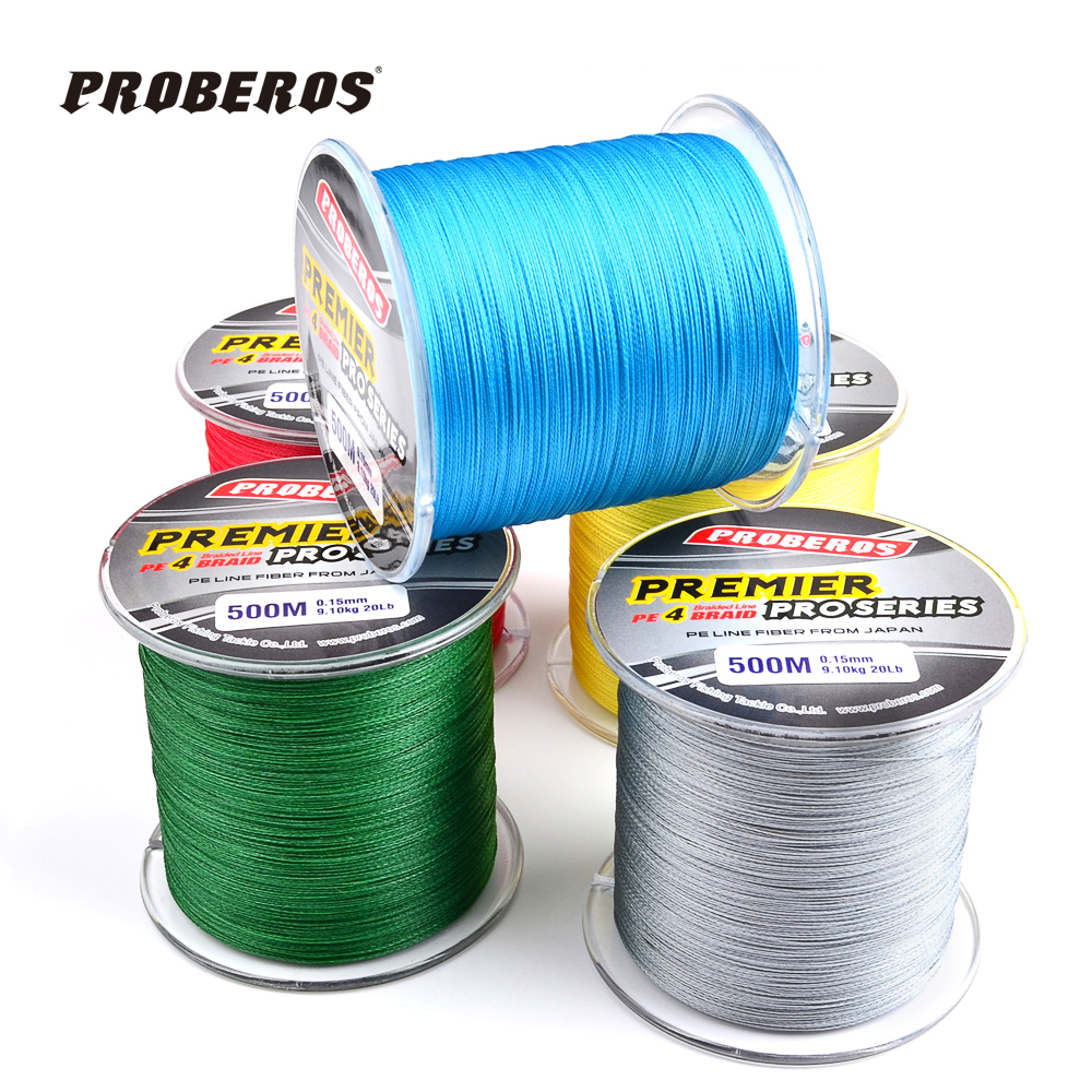 500m fishing line green gray red blue yellow pe line for 20 lb braided fishing line