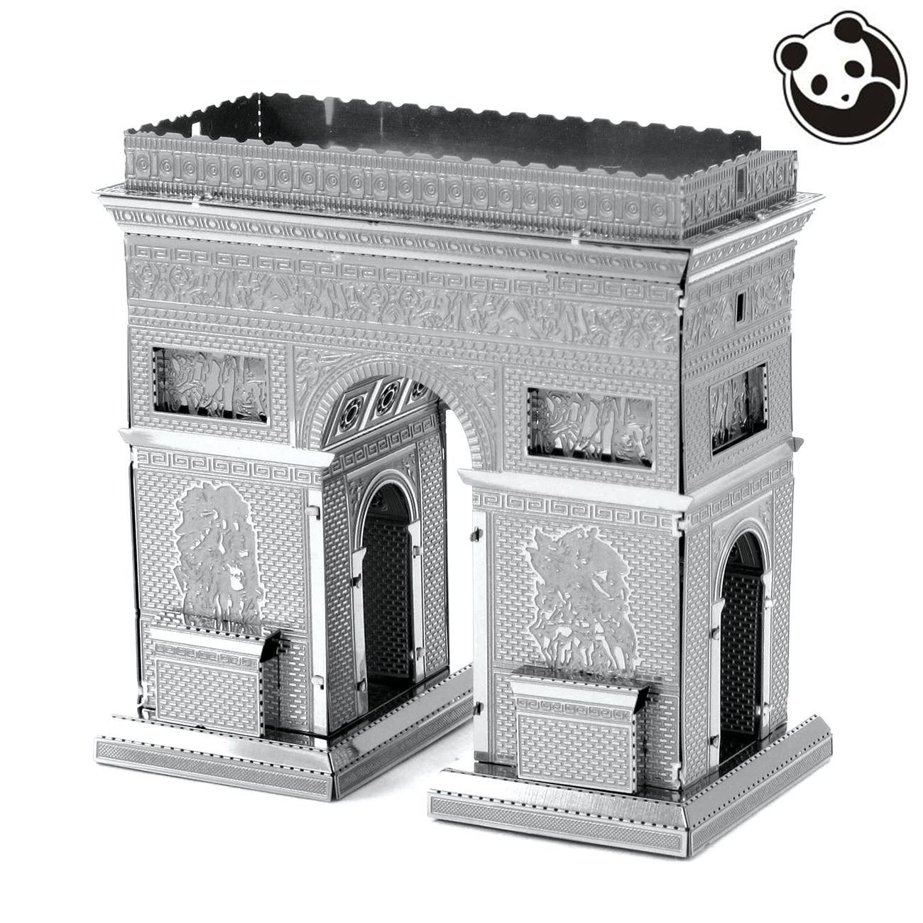 Pandamodel@Construction Famous Buildings Over The World 3D Metal Model Puzzles ARC DE TRIOMPHE Chinese Metal Earth Stainless(China (Mainland))