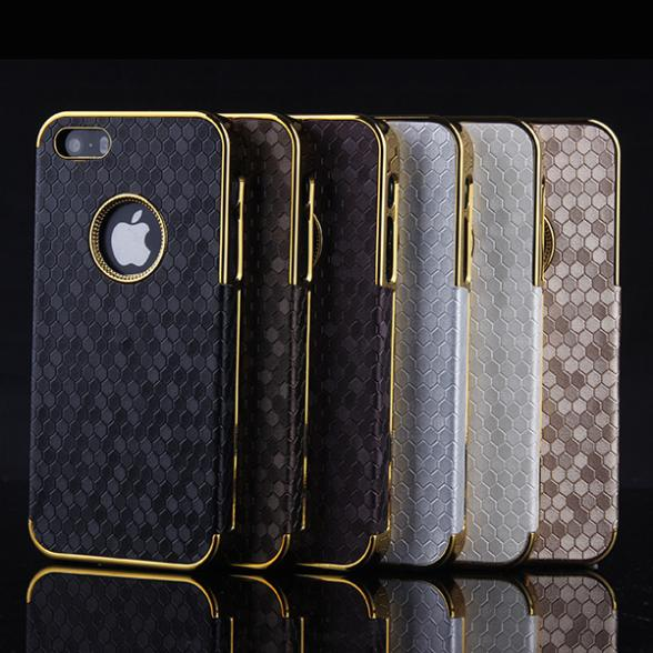 iPhone 5 5S Multi Colors Luxury Gold Chrome Diamond Design Hard Back Case Cover - Mike digital accessories store