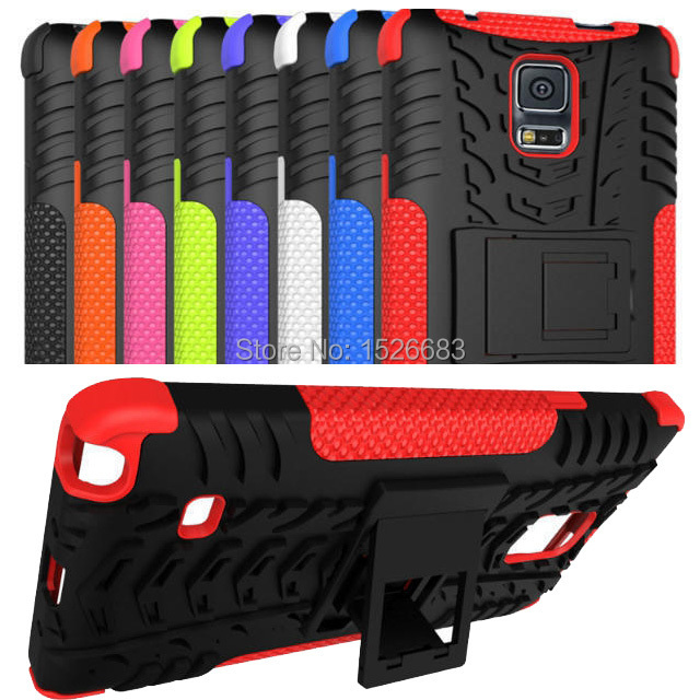 Luruxy SLIM Heavy Duty 2 1 Hybrid Armor CASE Samsung Galaxy Note 4 Rugged Hard PC+TPU Kickstand Cover Note4 Holder - Top 1MS LTD store