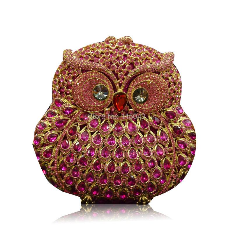 Design Promotion !! 2014 Owl Shape Luxury Alloy Crystal Ladies Evening Clutch Bags Fashion Mini Women Purse Handbags - Mondex Industries CO. store