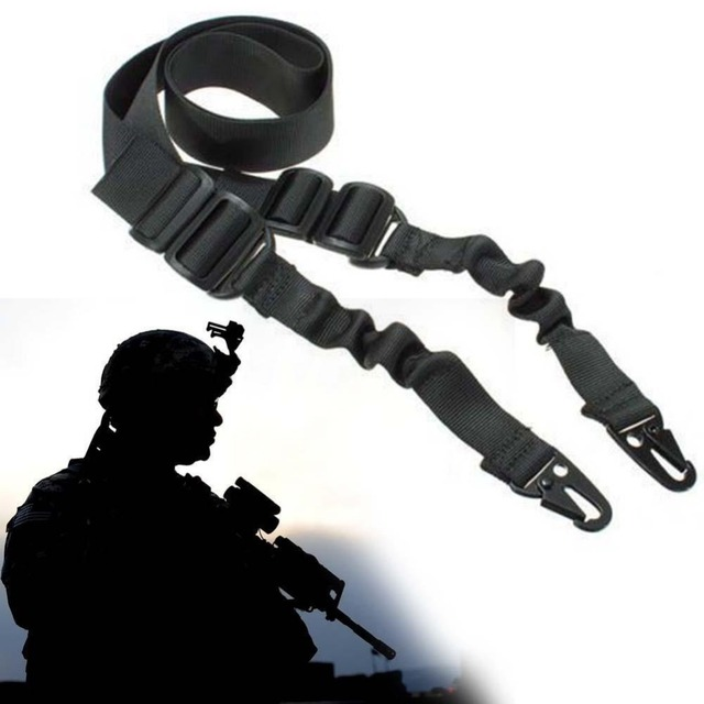 Tactical 2 Two Points Rifle Gun Sling Strap System Airsoft 2 Points Gun Slings