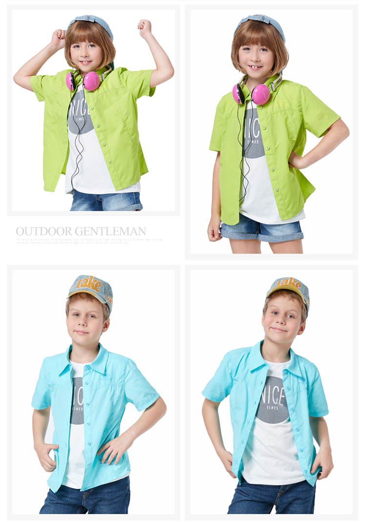 Outside sport child fast drying quick-drying clothing shirt perspicuousness short-sleeve sunscreen breathable quick dry clothing
