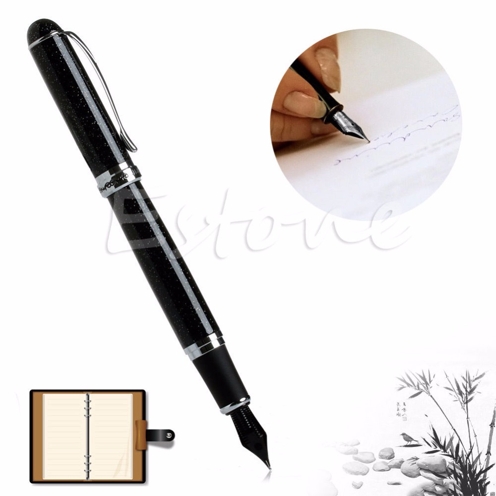 C18 New Hot High Quality Black Shimmering Sands Medium NIB  Fountain Pen Free Shipping<br><br>Aliexpress