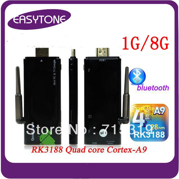 Quad core rockchip rk3188 1GB RAM CX-919 bluetooth WiFi Antenna Strong singal CX919 Mini PC Android 4.2.2 TV Dongle(China (Mainland))