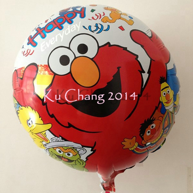 50pcs/lot 18inch twinkle elmo balloon sesame street balloons softplay elmo sesame street foil balloons cartoon party supplies(China (Mainland))