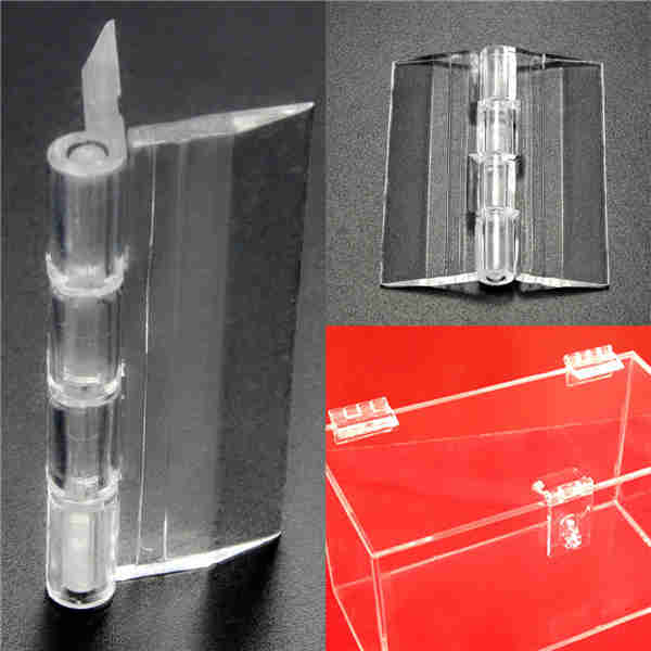 Excellent Quality 45x38mm Door Window Clear PMMA Acrylic Folding Hinge Plexiglass Hinge Useful Home House Tool Tools(China (Mainland))