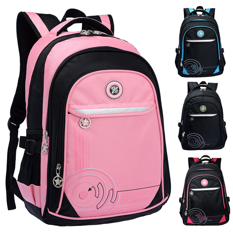 Korean version casual shoulder burden reduction students school bags children leisure travel backpack schoolbag(China (Mainland))