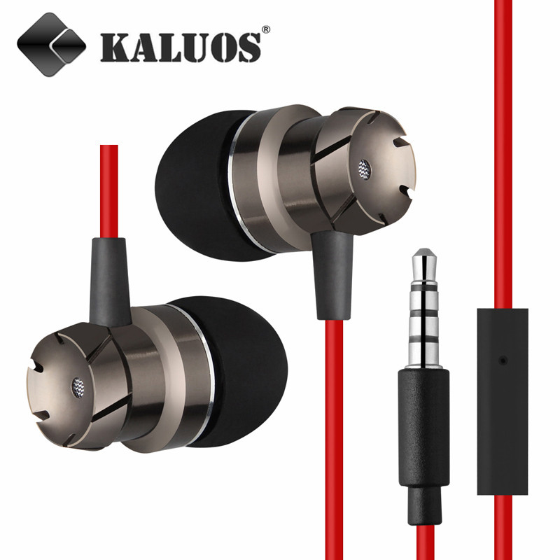 Гаджет  KALUOS W-5 High Quality Mega Bass In Ear Earphones with MIC Headsets For iPhone5 5S 6 6S Plus iPad 4mini 2 Air 2 MP3 Headphones None Бытовая электроника