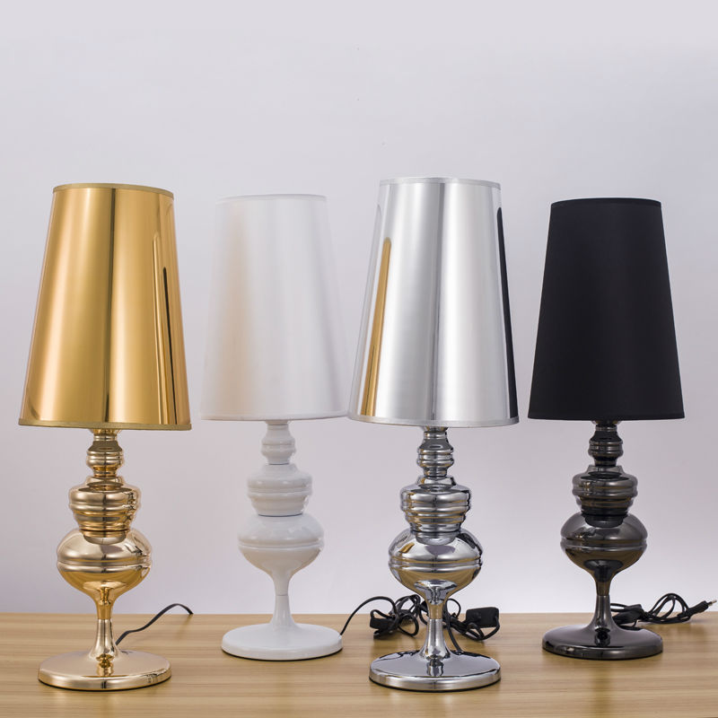 Modern Simple Guard Table Lamps Living Room Bedroom Bedside Light Study Reading Desk Lamp 90-260V E27 Golden Silver Light Body(China (Mainland))