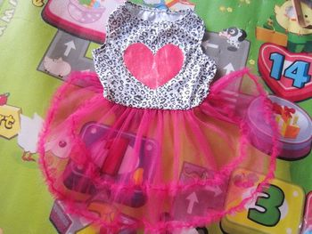 Size L SEXY LEOPARD Rose Heart ROSE LACE Small Pet Dog Cat puppy Clothes dress