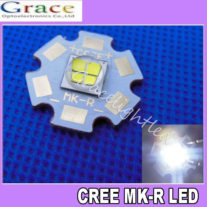 Cree Lamp MKR MK-R LED Emitter 1769LM 6000K 15W 12V White LED Chip Light with 20mm Board(China (Mainland))
