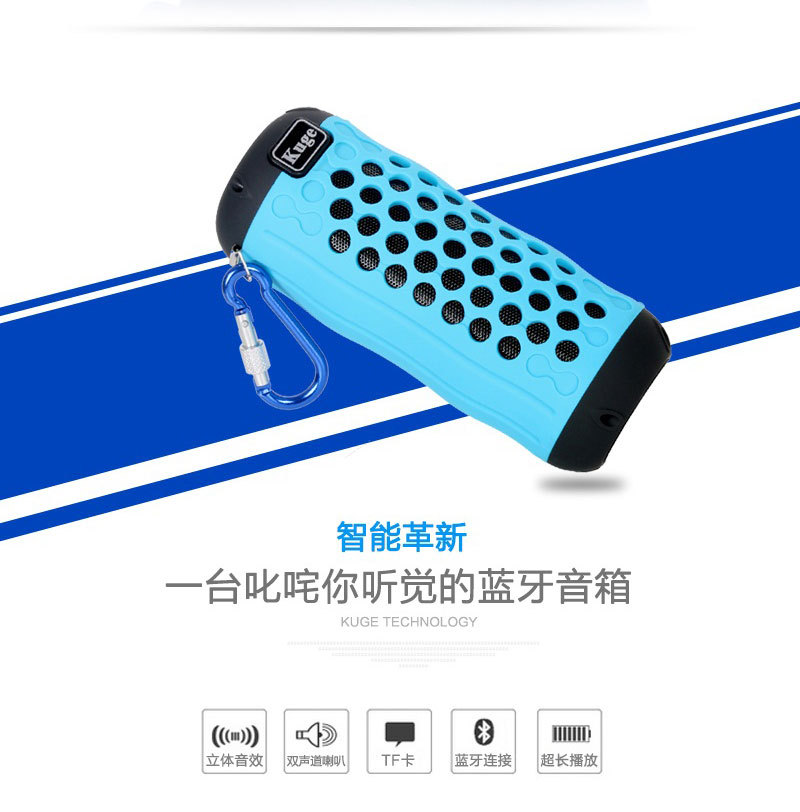 Wireless Bluetooth Stereo speaker mini portable mobile computer Smart Connect Mini Portable Stereo With Carabiner(China (Mainland))
