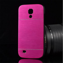 Luxury Brushed Metal Aluminium + PC material back cover Shell For Samsung Galaxy S4 mini i9190 phone case motomo shell(China (Mainland))