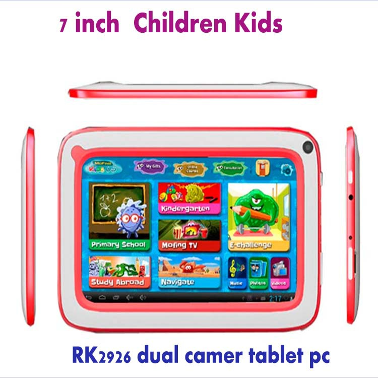 7 inch Children Kids Tablet PC RK2926 Android 4.1 Games dual camares free srop shipping - D&H International Co., Ltd. store