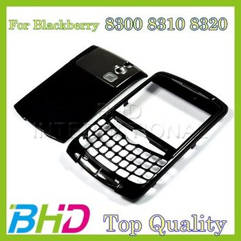 Free Shipping :Black Housing Faceplate Cover For Blackberry Curve 8300 8320 8310