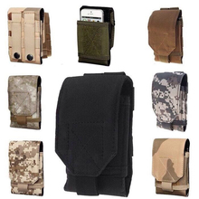 Cubot H1 Case New Mobile Phone Bag Outdoor Molle Army Camo Camouflage Bag Hook Loop Belt Pouch Holster Cover For DOOGEE T6 Pro
