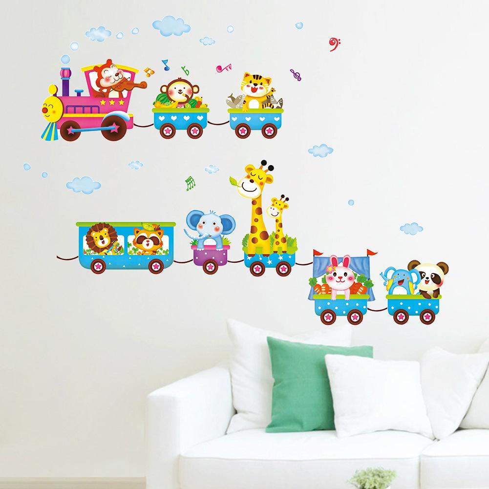 2016 new animal wall sticker kids cartoon mural children 39 s - Childrens bedroom stickers for walls ...
