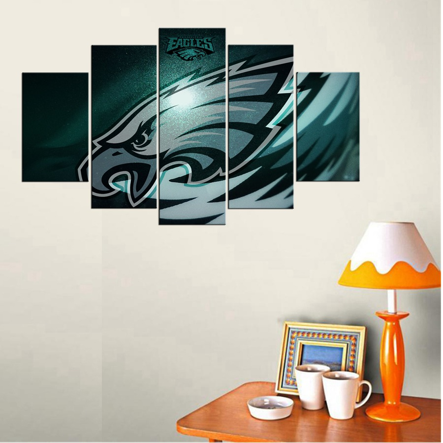 Rugby & Cap American Football Philadelphia Eagles Logo 3D Wall Art Casual Living Room Decor Poster Giclee Wall Art Stickers(China (Mainland))