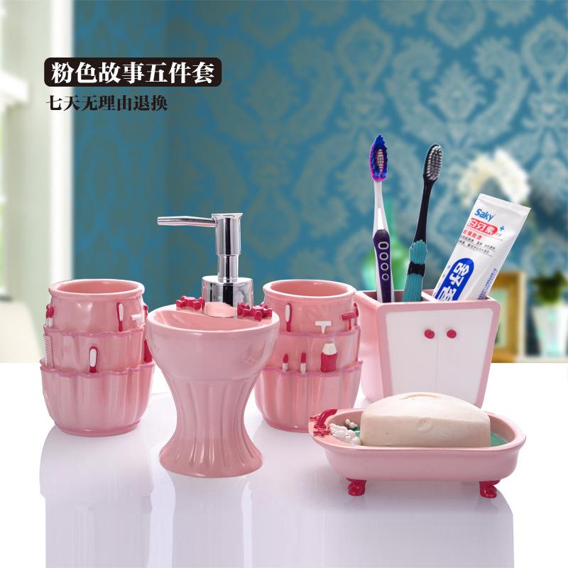 Pink bathroom sets